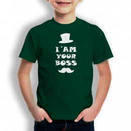 camiseta I am Your Boss para niños
