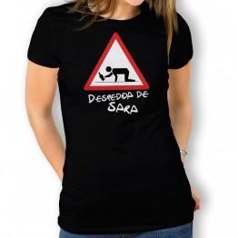 Camiseta Cuidado Despedida mujer