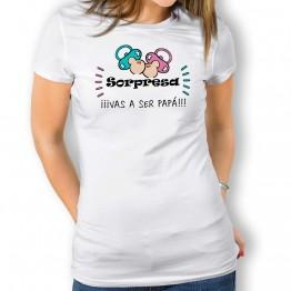Camiseta Vas a Ser Papá mujer
