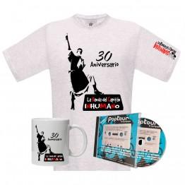 Superpack Camiseta blanca silueta Poptour