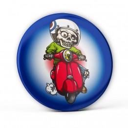 Chapa Esqueleto Con Moto