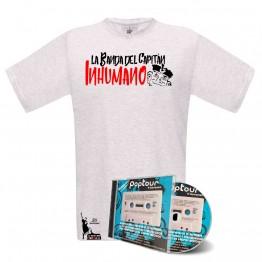 Pack Camiseta Blanca y cd poptuor en directo
