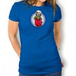 Camiseta Esqueleto con Moto para mujer
