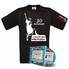 Pack Camiseta Negra con silueta poptuor