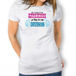 Camiseta Padrinos Divinos para mujer