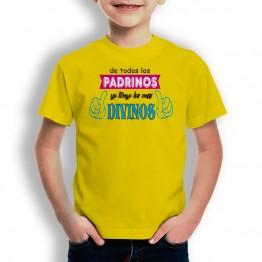 Camiseta Padrinos Divinos para niños