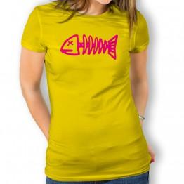 Camiseta Raspa Pescado para mujer