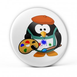 Chapa Pingüino Pintor