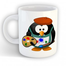 Taza Pingüino Pintor