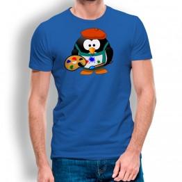 Camiseta Pingüino Pintor para hombre