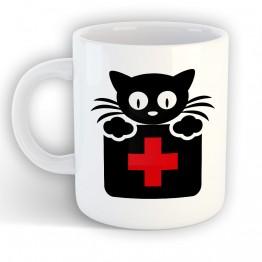 Taza Gato Doctor