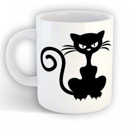 Taza Gato Enfadado