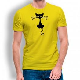 Camiseta Gato Halloween para hombre