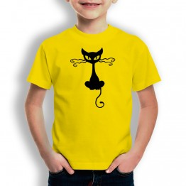 Camiseta Gato Halloween para niños