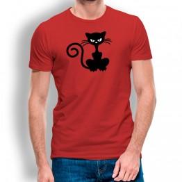 Camiseta Gato Enfadado para hombre
