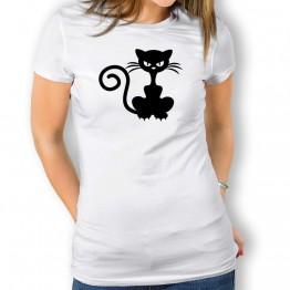Camiseta Gato Enfadado para mujer