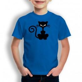 Camiseta Gato Enfadado para niños