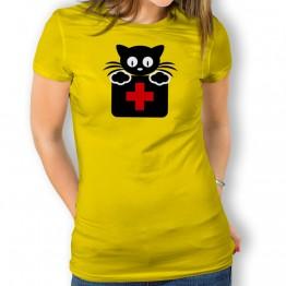 Camiseta Gato Doctor para mujer