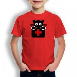 Camiseta Gato Doctor para niños