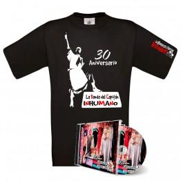 Pack Camiseta Negra con silueta Saqueando Camerinos