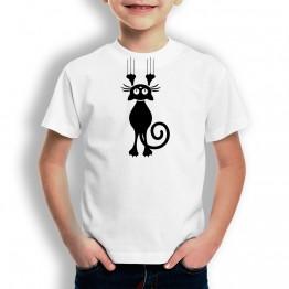 Camiseta Gato Escurriendose para niños