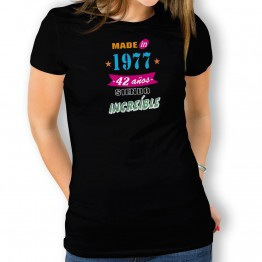 Camiseta Años Siendo Increíble para mujer