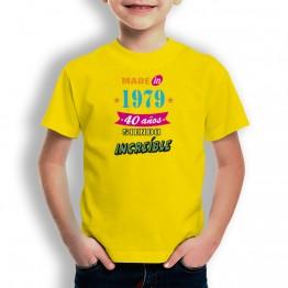 Camiseta Años Siendo Increíble para niños