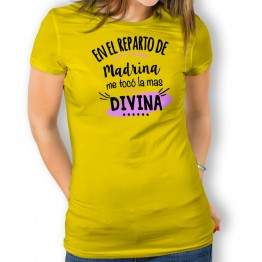 Camiseta Madrina Divina para mujer