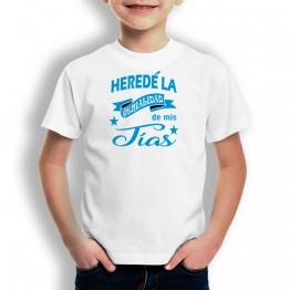 Camiseta Heredé Genialidad para niños