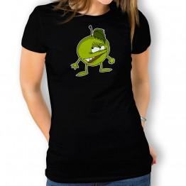 camiseta Manzana Enfadada para mujer