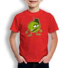 camiseta Manzana Enfadada para niños