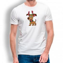 Camiseta Perro Navidad para hombre
