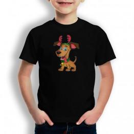 Camiseta Perro Navidad para niños