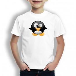 Camiseta Pingüino Bebé para niños