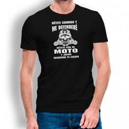 Camiseta Defenderé Mi Moto PARA HOMBRE