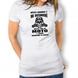 Camiseta Defenderé Mi Moto PARA mujer