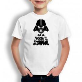 Camiseta Que La Fuerza Te Acompañe para niños