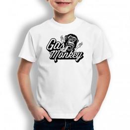 Camiseta Gas monkey para niños