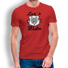 Camiseta Lets Ride para hombre
