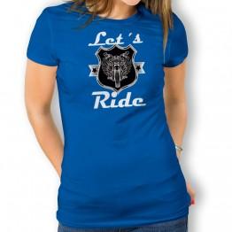 Camiseta Lets Ride para mujer