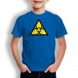 Camiseta Peligro Infección para niños