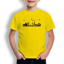 Camiseta Skyline para niños