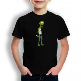 Camiseta Zombi Sin Brazo para niños