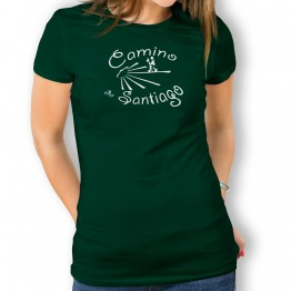 Camiseta Camino De Santiago para mujer