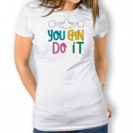 Camiseta You Can Do It para mujer