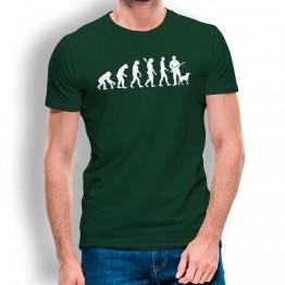 Camiseta Evolución a Cazador para hombre
