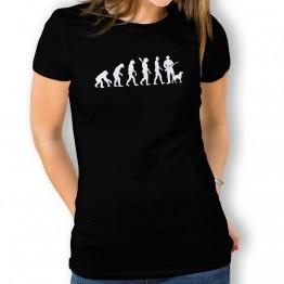 Camiseta Evolución a Cazador para mujer