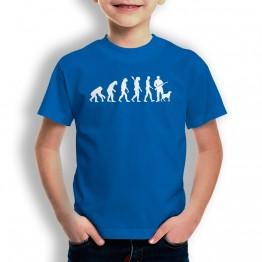 Camiseta Evolución a Cazador para niños