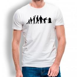 Camiseta Evolución Inicio a Fin para hombre