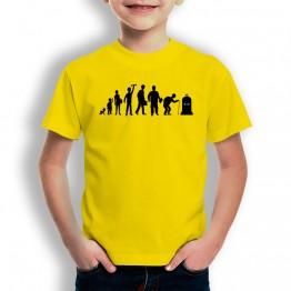 Camiseta Evolución Inicio a Fin para niños